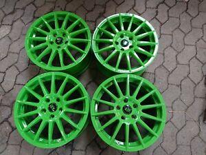 TEC Alufelgen grün 7,5 x 17 ET45 LK 5/114,3 Toyota Rav4 und andere