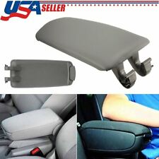 Grey Armrest Center Console Arm Rest Lid Cover For Audi A4 B6 B7 A4L 2002-2007