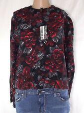 maglia donna nero floreale vintage taglia xl extra large