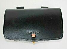 Pistol Cartridge Box - Black Leather - With Copper Grommet - Civil War