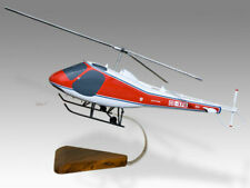 Enstrom F28A Solid Kiln Dried Mahogany Wood Handcrafted Display Helicopter Model