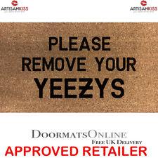 PLEASE REMOVE YOUR YEEZYS Stencilled Coir Internal Door Mat 70x40cm BY ARTISAN