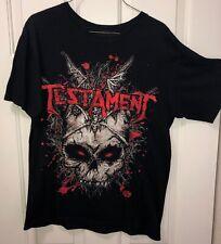 Testament Vintage 2011 Concert T-shirt size men's medium