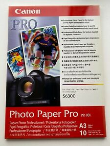 Canon A3 Photo Paper Pro. 10 Sheets PR-101 Pack. Unopened