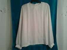 d53c7097be5a7f JCPENNEY LADIES/WOMEN'S LONG SLEEVE BUTTON DOWN BACK WHITE BLOUSE