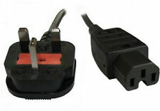 Power Hot Cable UK Mains Fused Plug to IEC C15 Female Socket 13 Amp 2m 2 metres