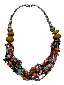 Handcrafted Moroccan Berber  Imitation Amber Turquoise  stone Necklace
