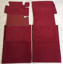 Fußmatten Autoteppich für Mercedes W109 Limousine 4 teilig dunkelrot Velours Neu