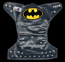 Modern Reusable Washable Baby Cloth Nappy Nappies & Insert, embroidered batman