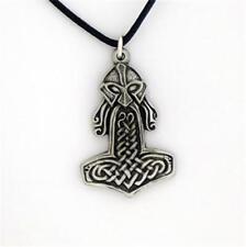Estaño Inglés-Mjolnir-Martillo de Thor Asgard Odin colgante collar