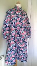 6690e4e905 Ladys 60s 70s Vintage Dressing Gown Robe House Coat Quilted Padded 14 16 18