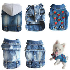 Fashion Pet Dog Clothes Small Dog Hoodie Soft Denim Dogs Vest Puppy Jean Jacket