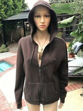 Cheetah Brown Hooded warm up jacket/ sports/ jogging- Women's Medium