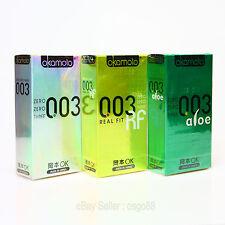 30p Okamoto 003 Platinum, Real Fit, Aloe Condoms Super Ultra THIN Japan 30p