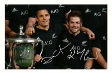 NEW ZEALAND ALL BLACKS - DAN CARTER & RICHIE MCCAW SIGNED A4 PP POSTER PHOTO