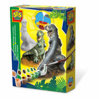 SES CREATIVE Children's T-rex Casting and Painting Set, Unisex, 5 to 12 Years