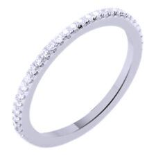 14K White Gold Over Sterling Silver Round Cut Cubic Zirconia Fashion Band Ring