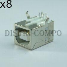 Fiche USB Type B femelle pour circuit imprimé (lot de 8)