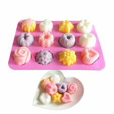 Flower Silicone Ice Cube Candy Chocolate Cake Cookie Cupcake Soap Molds Mould