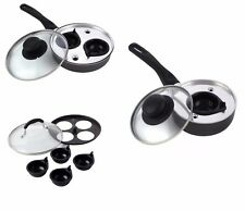 1 , 2 , 4 EGG POACHER POACHED PAN NON STICK EGG COOKING PAN CUP WITH HANDLE
