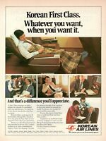 1981 Original Advertising' American Korean Air Lines Company Aerial First Clas