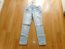 BNWT Womens Girls NEW LOOK Blue Ripped Skinny Jeans Size 12