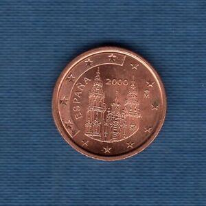Espagne 2000 2 Centimes D'Euro SUP SPL Pièce neuve de rouleau - Spain