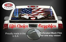 911 Tribute American Flag Eagle Rear Window Graphic Decal Sticker Truck Car SUV