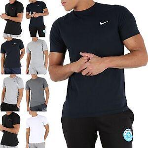 New Men's Nike Logo T-Shirt,Top Half sleeves Summer Gym Running Sports Black