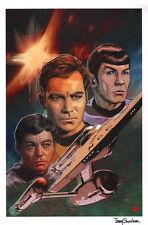 Tony Shasteen SIGNED Star Trek IDW Series Comic Art Print ~ Kirk Spock & McCoy