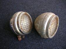 2 NOTEK LAMPS LIGHTS FOG KDF WW2 VW SPLIT VOLKSWAGEN VINTAGE MERCEDES  MB HORCH