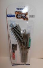 Bachmann HO E-Z Track Grey Nickel Silver Remote Turnout Left #44561 NIP