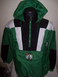 BOSTON CELTICS Starter LIGHT WEIGHT Half Zip Pullover Jacket GREEN     Style 2
