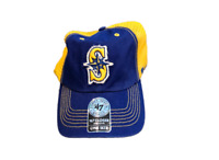 NWT New Seattle Mariners '47 Brand Closer Mesh Back Trucker Stretch Flex-Fit Hat