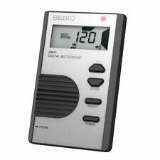 Seiko Pocket Size Digital Metronome - Silver - Dm71S