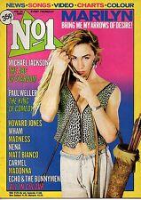 Marilyn on Magazine Cover 1984    Michael Jackson   Madonna   Wham!   Nena
