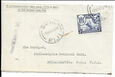 FIJI 1943 KG6 COVER MISSENT TO CALIFORNIA