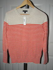 NEW J. Crew Summerweight Cotton Sweater in Stripe C7347 XS NWT