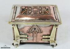 Archibald Knox / AE Jones Silver Plated Enamel Copper Brass Box Liberty & Co
