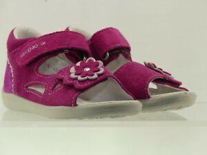 Pepino Mädchen Leder-Sandalen, Baby Schuhe, Weite Mittel, Klettverschluss