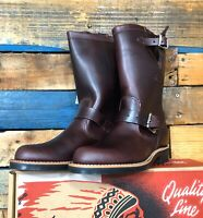 """Chippewa Raynard Boots Cordovan Leather 11"""" NEW Women's SIZE 7 M Made in USA"""