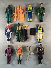 GI Joe 1990-1994 Lot of 9 action figures Cobra Viper Dice Eels Top Side Dojo