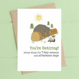 Dandelion Stationery Retirement Card Afternoon Naps
