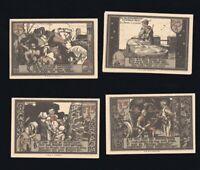 4x Notgeld der Stadtsparkasse GRANSEE Mark Brandenburg 25,75,125,175 PF