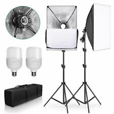 Photography Studio Continuous Lighting Softbox LED Soft Box Light Stand Kit