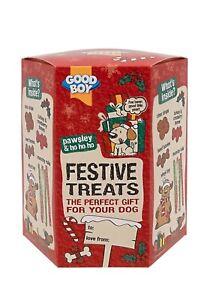 Armitage Pawsley Goodboy Christmas Giftbox for Dogs - 4 x Treats & 1 Festive Toy
