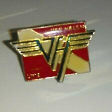 "VAN HALEN Live VINTAGE PIN 1"" Heavy Metal hard Rock button vtg 80's Classic old"