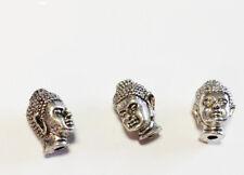 Perle Shiva Buddha Kopf Mala Kunststoff cremeweiß 15x11x6 mm 2x BACATUS