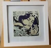 Roy Lichtenstein Hand Signed Print Published 1986 COA
