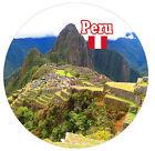 Perú /BANDERA/MONUMENTOS - Redondo RECUERDO Imán de NEVERA - NUEVO - REGALOS